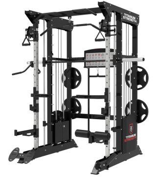 Titanium Strength Black Series B200 Máquina Smith, Multipower, Rack + Poleas + 200Kg de Placas Incluídos