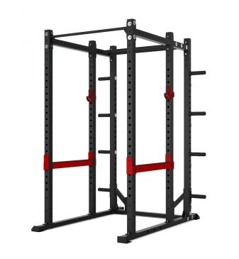 Titanium Strength Commercial Athletic Power Rack - X Line, Fitness, Crossfit, Workout, Home Gym, Arms, Chest, Shoulders, Power Cage, Functional
