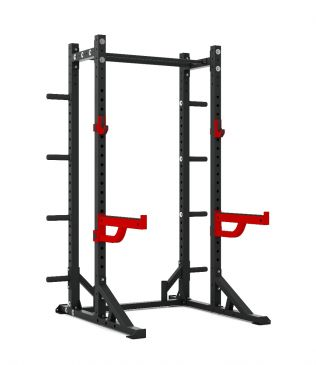 Titanium Strength Commercial Athletic Half Rack - X Line, Fitness, Crossfit, Workout, Home Gym, Arms, Chest, Shoulders, Multistation, Functional