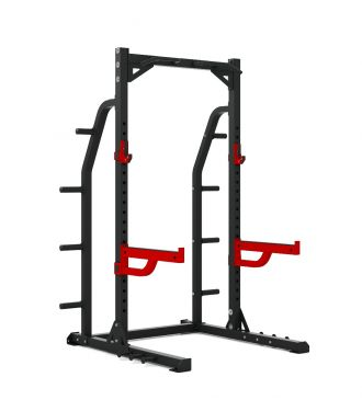 Titanium Strength Commercial HD Half Rack - X Line, Fitness, Crossfit, Workout, Home Gym, Arms, Chest, Shoulders, Power Cage, Functional