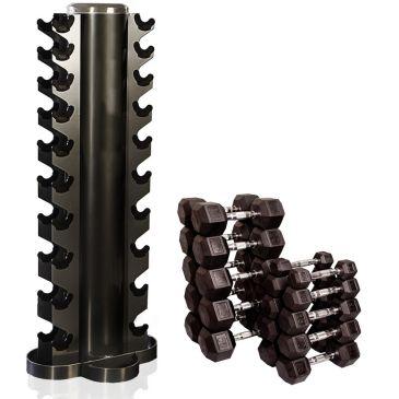 Tunturi Hantel-Set 1-10kg + Vertikalem Rack