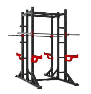 Titanium Strength Comercial Athletic Combo Rack - X Line, Fitness, Crossfit, Workout, Home Gym, Arms, Chest, Shoulders, Power Cage, Functional