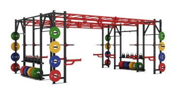 Titanium Strength Comercial Heavy Athletic Bridge Rack - X Line, Fitness, Workout, Home Gym,Crossfit, Squats, Chest, Back, Functional,