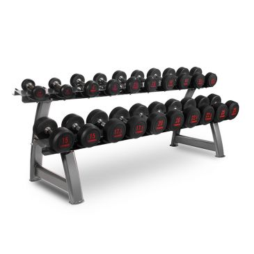 Titanium Strength Dumbbells Set 2,5- 25Kg + Rack, Fitness, Crossfit, Workout, Home Gym, Arms, Chest, Shoulders,